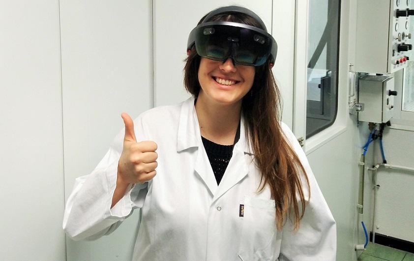 Llegan las Microsoft HoloLens al laboratorio de ATRIA!